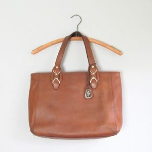 Cole Haan genuine leather brown tote